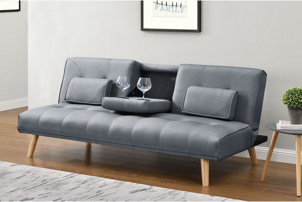Brooklyn Charcoal Grey Fabric Modern Scandi Sofa Bed