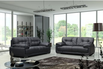 Alexis 2+3 Seater Black Sofa