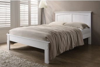 Beeston White Solid Wooden Shaker Style Bed Frame - Double