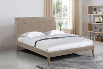 FF-Broughton Sonoma Oak/Linen King Bed