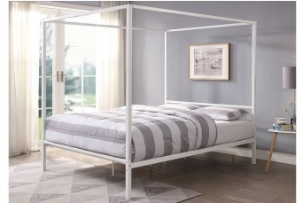 CHALFONT 4 POSTER WHITE METAL DOUBLE BED