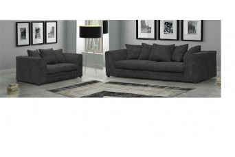 DYLAN JUMBO BLACK 2 AND 3 SEATER SOFA BY NEW YORK SOFA COMPANY