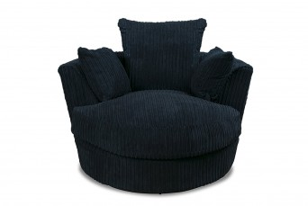 DYLAN JUMBO BLACK SWIVEL BY NEW YORK SOFA COMPANY