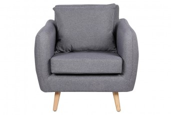 ELFORD CHARCOAL GREY FABRIC ARMCHAIR