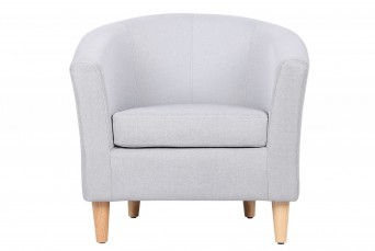 ENDON GREY FABRIC TUB CHAIR