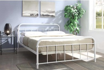 HENLEY HOSPITAL METAL BED WHITE DOUBLE