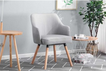 Hopton Light Grey Occasional Accent Chair