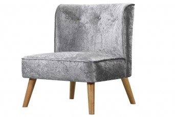 MILFORD CRUSHED SILVER CHAIR