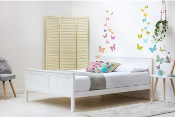 TABLEY WHITE WOODEN KING BED