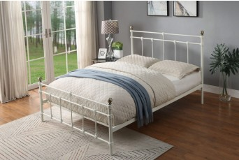 TRENTHAM  WHITE  METAL  DOUBLE  BED
