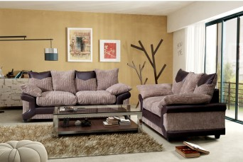 DYLAN JUMBO CHOCOLATE BROWN 2 AND 3 SEATER SOFA BY NEW YORK SOFA COMPANY