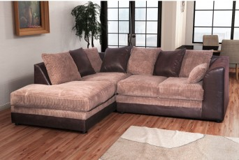 DYLAN JUMBO CHOCOLATE BROWN LEFT HAND CORNER SOFA BY NEW YORK SOFA COMPANY