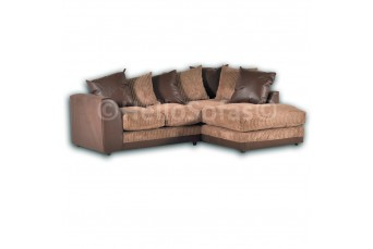 DYLAN JUMBO CHOCOLATE BROWN RIGHT HAND CORNER SOFA BY NEW YORK SOFA COMPANY