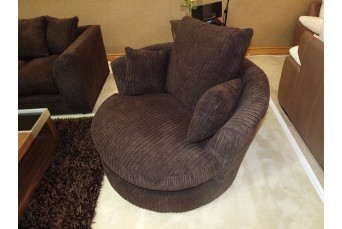 DYLAN JUMBO CHOCOLATE BROWN SWIVEL BY NEW YORK SOFA COMPANY