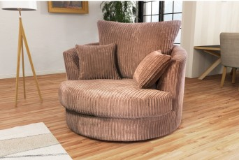 DYLAN JUMBO COFFEE SWIVEL BY NEW YORK SOFA COMPANY