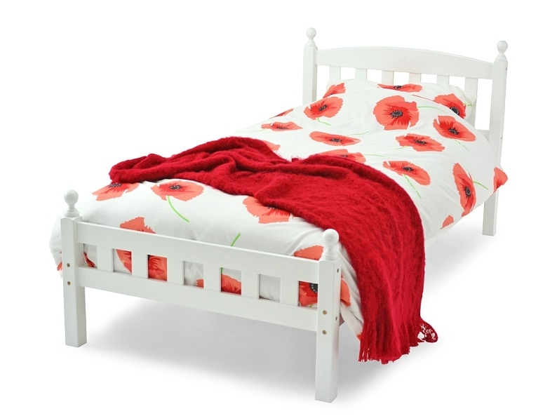 FLORENCE SINGLE BED- WHITE