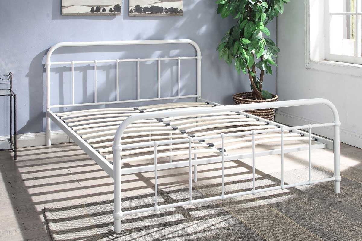 HENLEY HOSPITAL METAL BED WHITE KING