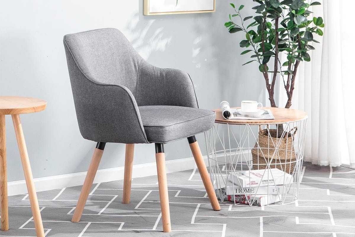 Hopton Charcoal Grey Occasional Accent Chair