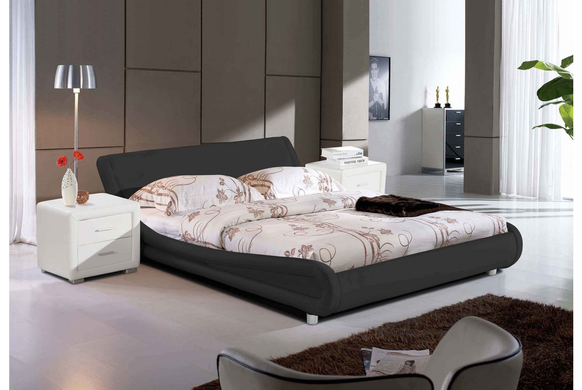 Madrid double bed black buy beds online and bedroom for Stock sofas madrid