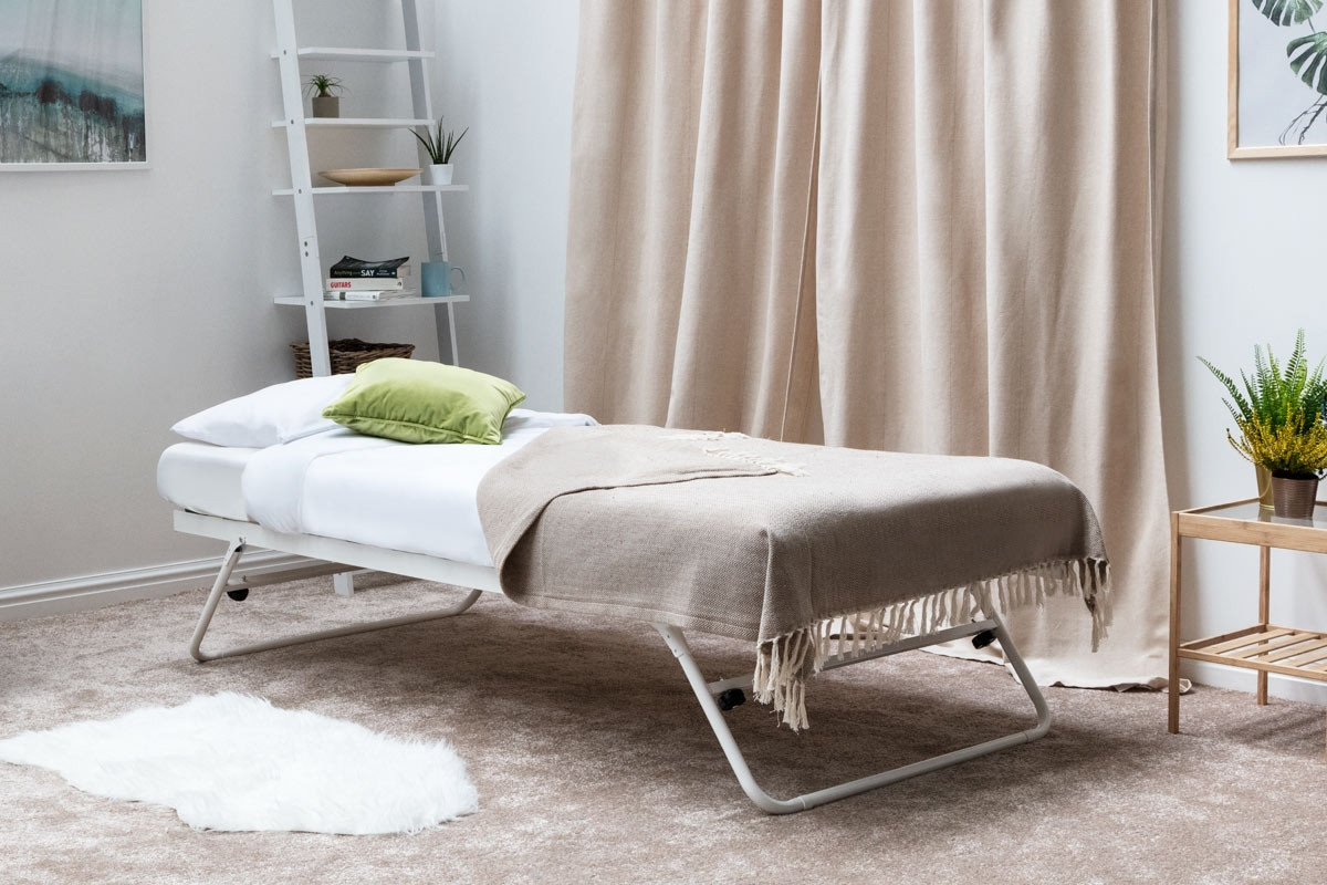 White Metal Guest Trundle - Single Size