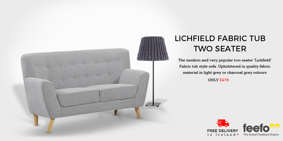 Lichfiled Fabric Tub two Seater